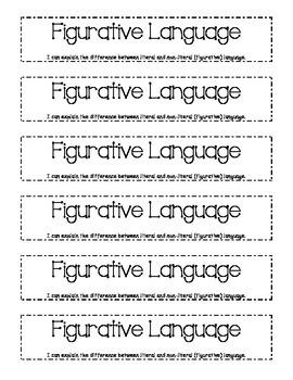 Figurative Language Reading Notebook Entry