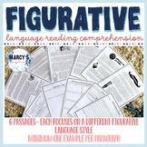 Figurative Language Reading comprehension passages with qu