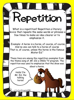 Figurative Language Repetition Poster and Lesson Station Task Set