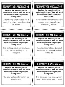 Figurative Language Resources | Activities for Teaching Figurative Language
