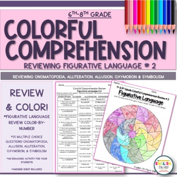 Figurative Language Review #2-Colorful Comprehension, Color by Number