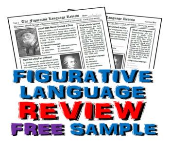 Figurative Language Review Free Sample