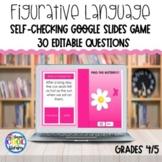 Figurative Language Review Google Slides Game - Editable