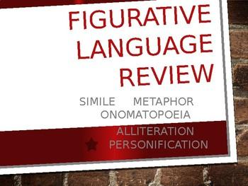 Figurative Language Review PPT