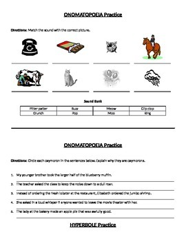 Figurative Language Review Packet