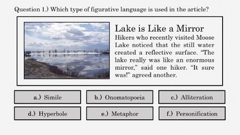 Figurative Language Review PowerPoint No.0 (Free Sample)