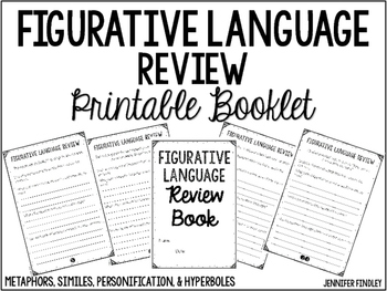 Figurative Language Review Printable Booklet