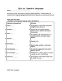 Figurative Language Review/Quiz