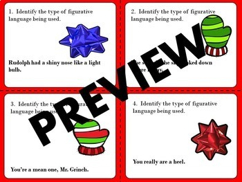 Figurative Language & Writing Activity- Twas the Night Before Christmas