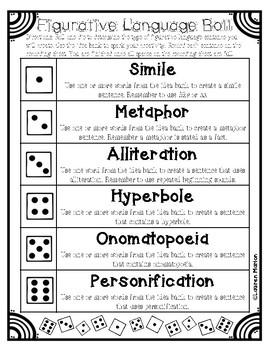 Figurative Language Roll Activity