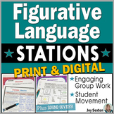 Figurative Language STATIONS - Activities & Movement - w/Digital Handouts Option