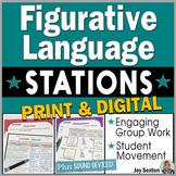 Figurative Language STATIONS - Print & Digital Distance Learning
