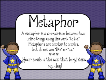 Figurative Language -SUPERHERO Theme- Posters