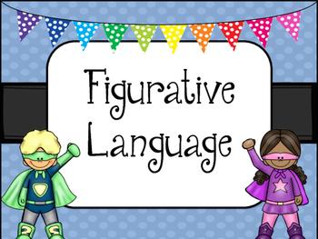 Figurative Language -SUPERHERO Theme- Posters