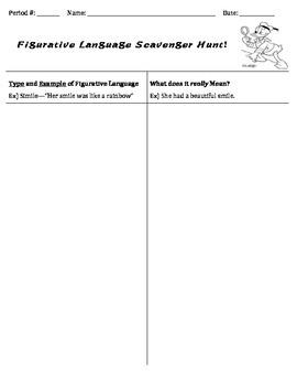 Figurative Language-Scavenger Hunt