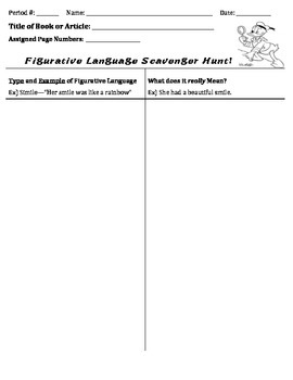 Figurative Language-Scavenger Hunt