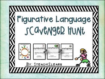 Figurative Language - Solve the Room - Scavenger Hunt