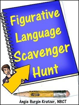 Figurative Language Scavenger Hunt {Advanced AP English Terminology}