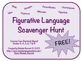 Figurative Language Scavenger Hunt (Common Core Aligned)
