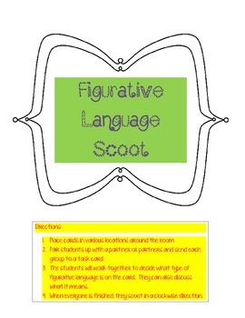 Figurative Language Scoot Game