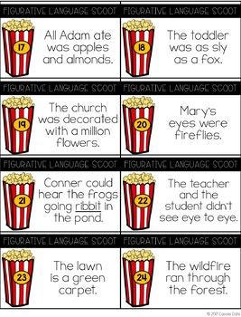 Figurative Language Scoot (Popcorn Themed)