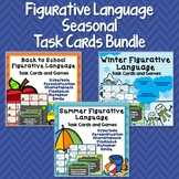 Figurative Language Seasonal Task Cards Bundle