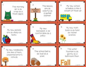 Figurative Language Seasonal Task Cards Bundle