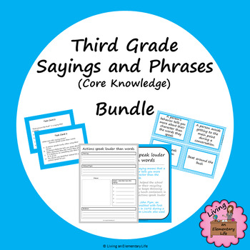 Third Grade Sayings and Phrases (Core Knowledge) Bundle