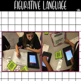Figurative Language Set {task cards, and QR Codes with ans