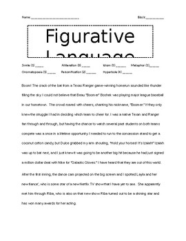 Figurative Language Short Story