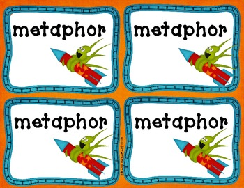 Figurative Language Show Me the Card Activity:Similes, Metaphors,Personification