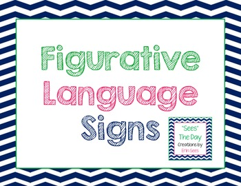 Figurative Language Signs {Chevron}