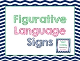 Figurative Language Signs {Chevron}