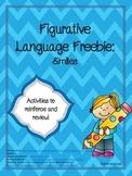 Figurative Language: Simile Freebie