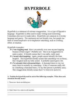 Figurative Language: Simile, Metaphor, Hyperbole, and Personification Bundle