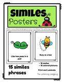 Figurative Language Simile Posters
