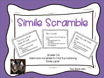 Figurative Language: Simile Scramble