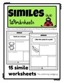 Figurative Language Simile Worksheets