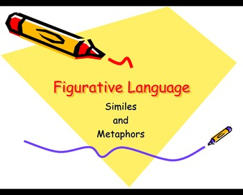 Figurative Language: Simile and Metaphor PowerPoint