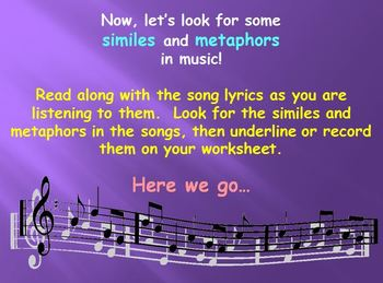 Figurative Language- Similes & Metaphors in Music
