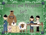 Figurative Language - Similes and Metaphors Sort