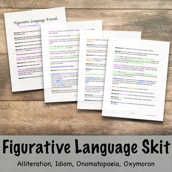 Figurative Language Skit- Alliteration, Idiom, Onomatopoei