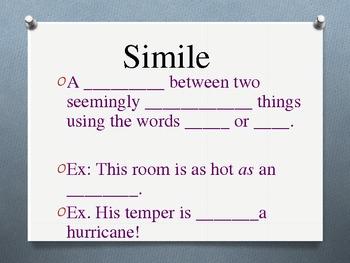 Figurative Language Slide Show 2