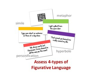 Figurative Language Slides Game w/QR Codes