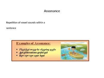 Figurative Language Slideshow and crossword