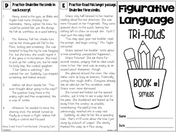 Figurative Language Small Group Instruction: Seven Tri-folds | PDF and Digital |
