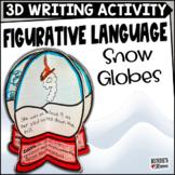 Figurative Language Snow Globe 3D Activity