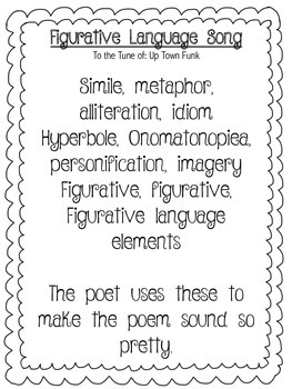 Figurative Language Song