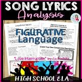 "Figurative Language & Song Lyrics ""Love Interruption"" Middle & High School ELA"