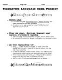 Figurative Language Song Lyrics Project - Homework or Classwork